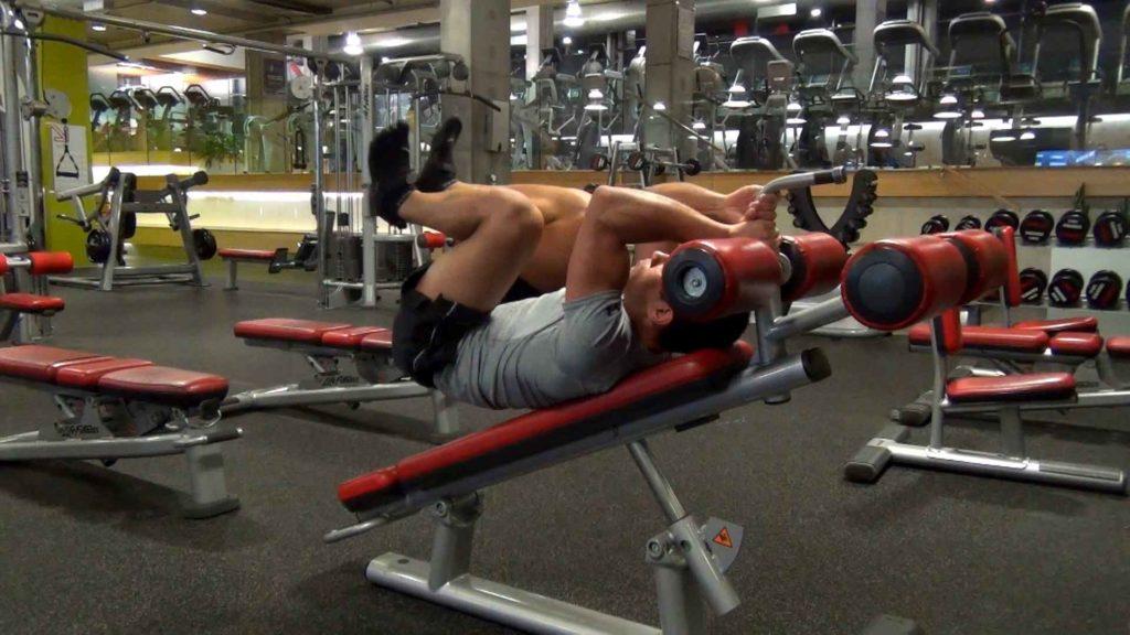 core abdominal leg raises