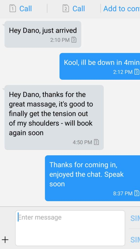 Sensual Massage Testimonial - L Lawyer