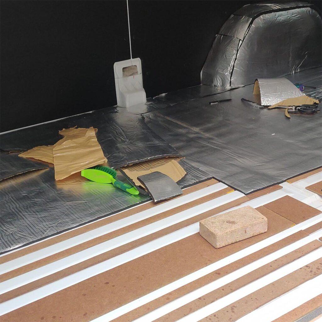 mercedes sprinter van floor insulation