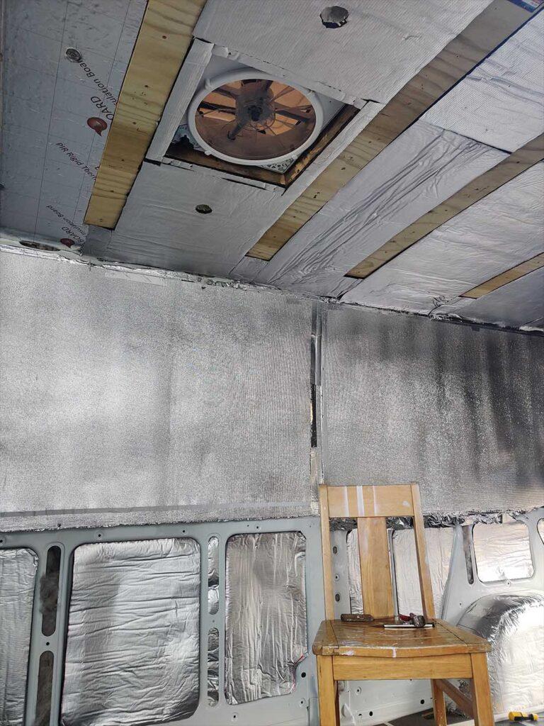 mercedes van insulation job