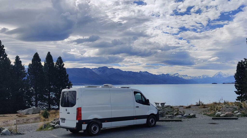 2020 Mercedes Sprinter by Lake Tekapo 2